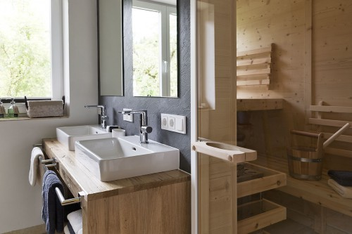 Bathroom with sauna in apartment 2