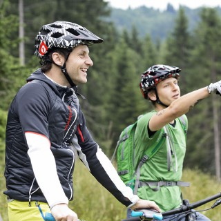 Mountainbiken mit Michael